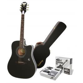 Epiphone PRO-1 Ultra Acoustic Electric Ebony SET