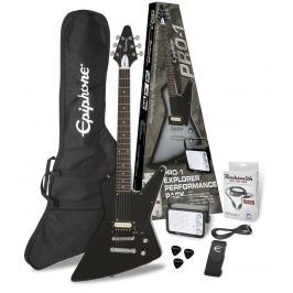 Epiphone PRO-1 Explorer Performance Pack Ebony