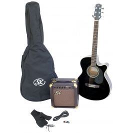 SX SA3 Electric Acoustic Kit Black