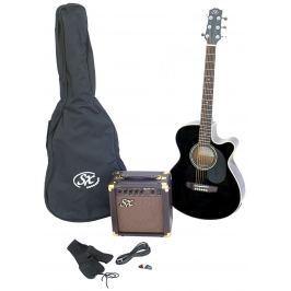 SX SA3 Electric Acoustic Kit Black