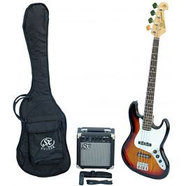 SX SB1 Bass Guitar Kit 3 Tone Sunburst