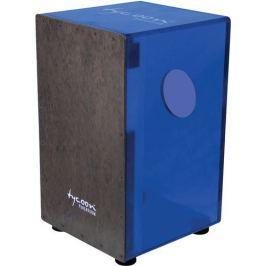 Tycoon Acrylic Royal Blue Body Cajon Black Makah Burl Frontplate