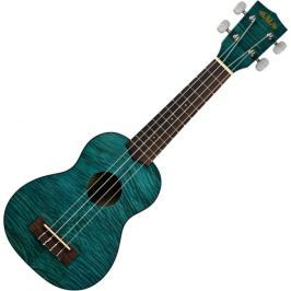 Kala Exotic Mahogany Soprano Ukulele Blue with Bag