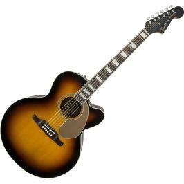 Fender Kingman Jumbo SCE Walnut FB 3 Color Sunburst with Case