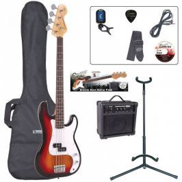 Encore EBP-E4SB Bass Guitar Outfit Sunburst