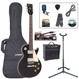 Encore EBP-E99BLK Electric Guitar Outfit Gloss Black