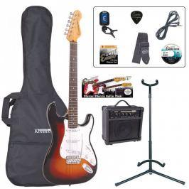 Encore EBP-E6SB Electric Guitar Outfit Sunburst