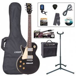 Encore EBP-LHE99BLK Left Hand Electric Guitar Outfit Gloss Black