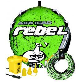 Airhead Rebel Tube Kit incl. Tow Rope and 12 Volt Pump green/white
