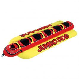 Airhead Towable Jumbo Dog 5 Persons red/yellow