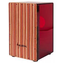 Tycoon Acrylic Cherry Red Body Cajon Black Makah Burl Frontplate (B-Stock) #910050