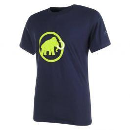 Mammut Logo - krátký rukáv dunkel blau mit grünnem Logo - M