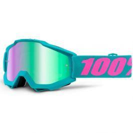 100% Accuri Passion grün, blaues Chrom + klares Plexiglas mit Bolzen für Abr