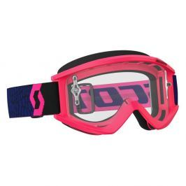 SCOTT Recoil Xi MXVII Clear blue-fluo pink