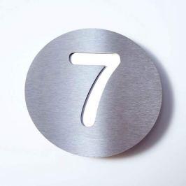 Hausnummer Round aus Edelstahl - 7