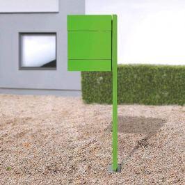 Briefkasten Letterman V, Zeitungsf.+Pfosten, grün