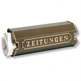 Aluguss Zeitungsbox 1890, bronze