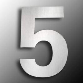 Edelstahl-Hausnummern  groß 5