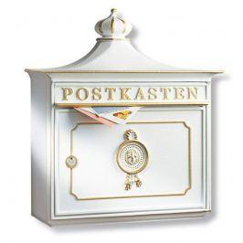 Bordeaux - Aluguss-Briefkasten, weiß