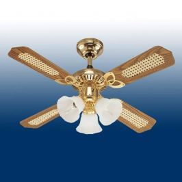 Princess-Trio-Deckenventilator, stilvoll in Holz