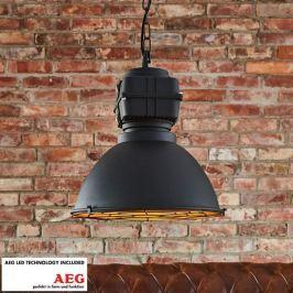Pendelleuchte Jusan im industriellen Stil, E27 LED