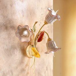 3-flammige Wandleuchte Flora im Florentinerstil