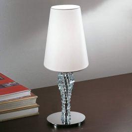 Kleine Tischleuchte Crystal weiß