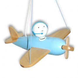Blaue Hängeleuchte Flugzeug Piccolo
