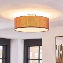 Elegante Deckenlampe Sebatin in Hellbraun