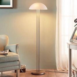 Elegante Stehlampe Kaytie mit Glasschirm