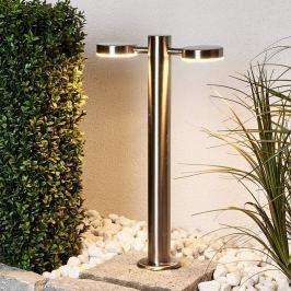 2-fl. LED-Edelstahl-Sockellampe Toriba