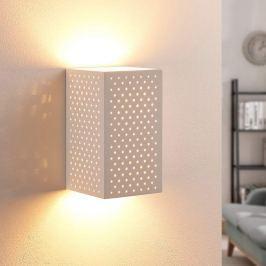 Tereza - LED-Gips-Wandleuchte mit Löchern