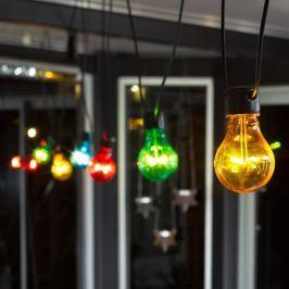 LED-Lichterkette Biergarten Basis bunte Birnen