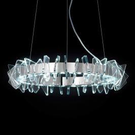 Ringförmige LED-Hängeleuchte EOS mit Glas