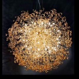 Auffällige Hängeleuchte Amber Kugel, 220 cm