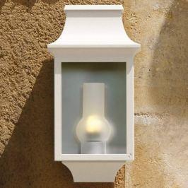 Elegante Außenwandlampe Louis Philippe 7 weiß