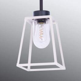 Außenhängeleuchte Lampiok in Weiß