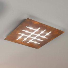 Pattern - quadratische LED-Deckenlampe, rost