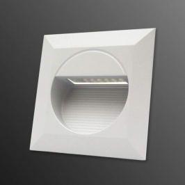 LED-Wandeinbauleuchte Quader für außen, weiß