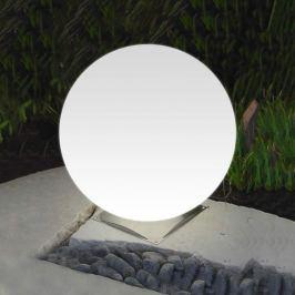 Ideale Kugelleuchte Snowball weiß Edelstahlfuß 50