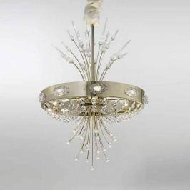 Kristall-Kronleuchter Elegance gold, 9-flammig
