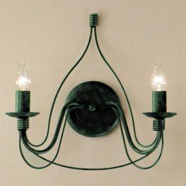 Wandleuchte FILO 2-flammig grün antik