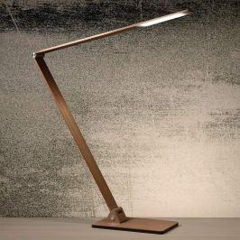 Feine LED-Schreibtischleuchte Flatt, coffee-braun