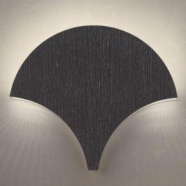 Außergewöhnliche LED-Wandleuchte Palm, schwarz-sil