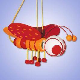 Süße Pendelleuchte BIENCHEN, rot