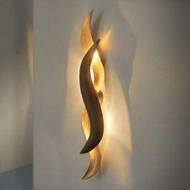 Goldglänzende Designer-LED-Wandleuchte Corallo
