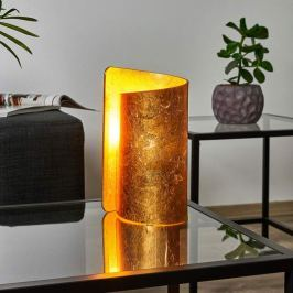 Tischleuchte Imagine mit goldenem Glasschirm