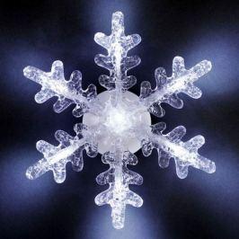 Dekorative LED Schneeflocke mit Saughalter 21cm