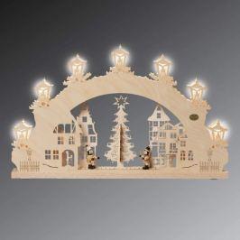 Auf dem Weihnachtsmarkt - 3D-Lichterbogen