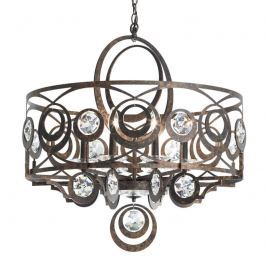 Schonbek Gwynn Kristall-Hängeleuchte, bronze